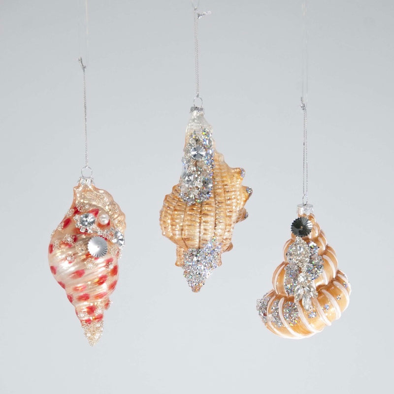Jewelled Trumpet Shell Ornament, KC-Katherine's Collection, Putti Fine Furnishings
