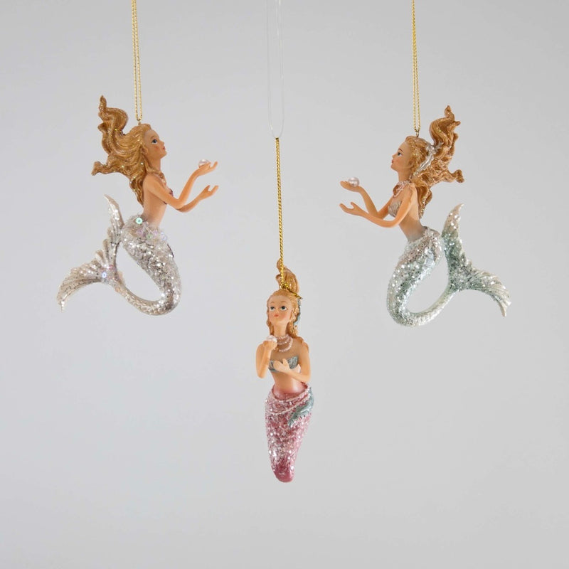 Mermaid with Pearl Ornament, KC-Katherine's Collection, Putti Fine Furnishings