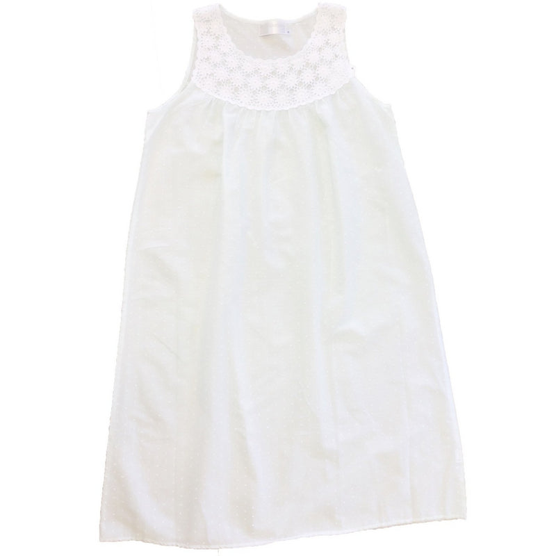 "Victoriana ""Lyska"" Sleeveless White Nightgown"