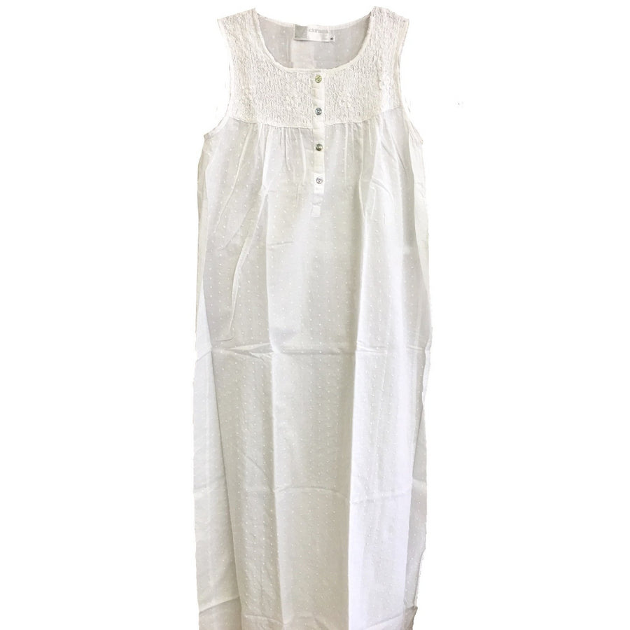 "Victoriana ""Janice"" Sleeveless Nightgown"