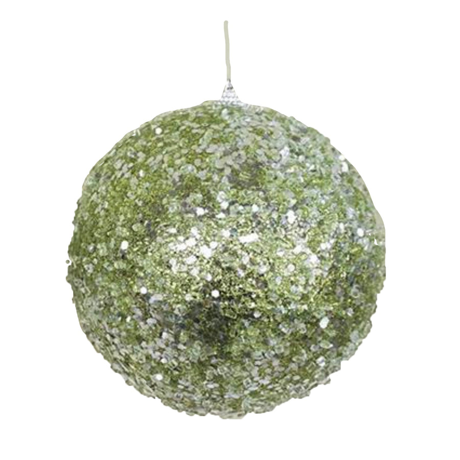 Green Ice Ball Ornament