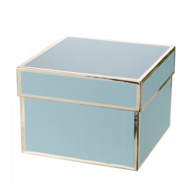 Aqua Blue and Gold Gift Boxes