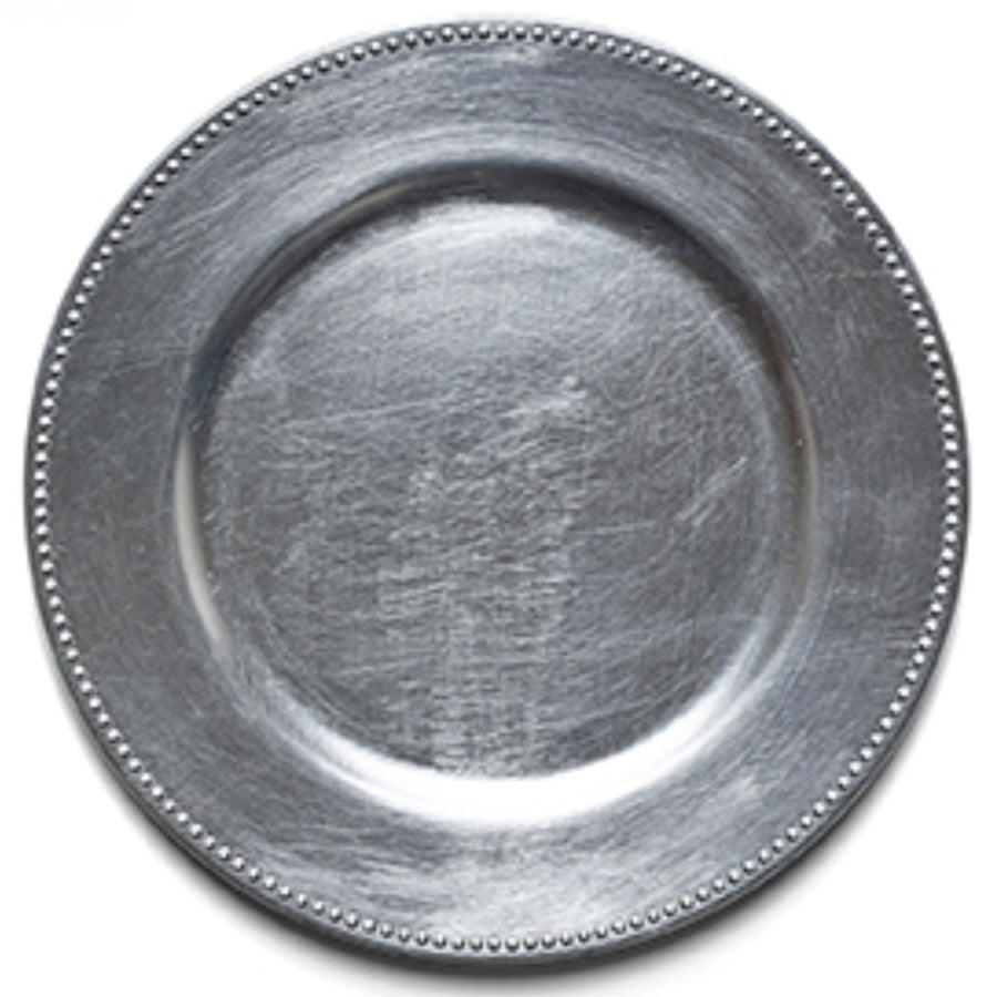 Silver Beaded Charger Plate, Harman, Putti Fine Furnishings