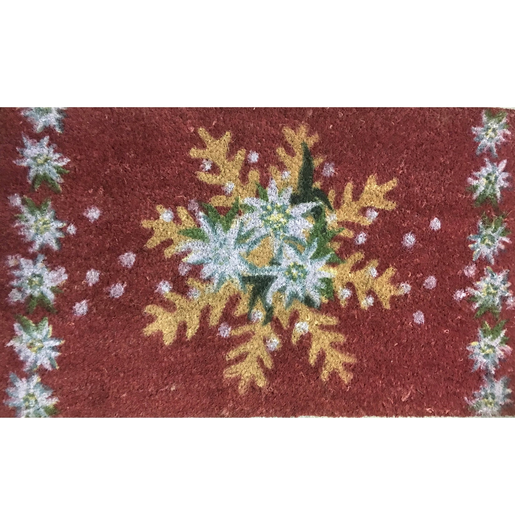 Snowflake Printed Coir Doormat, HI-Harman Inc, Putti Fine Furnishings