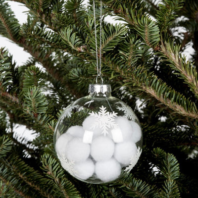 Pom Pom Filled Ball Ornament, AC-Abbott Collection, Putti Fine Furnishings