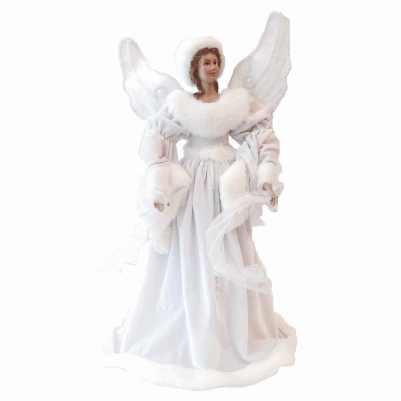 White Angel with Fur, PC-Pine Center, Putti Fine Furnishings