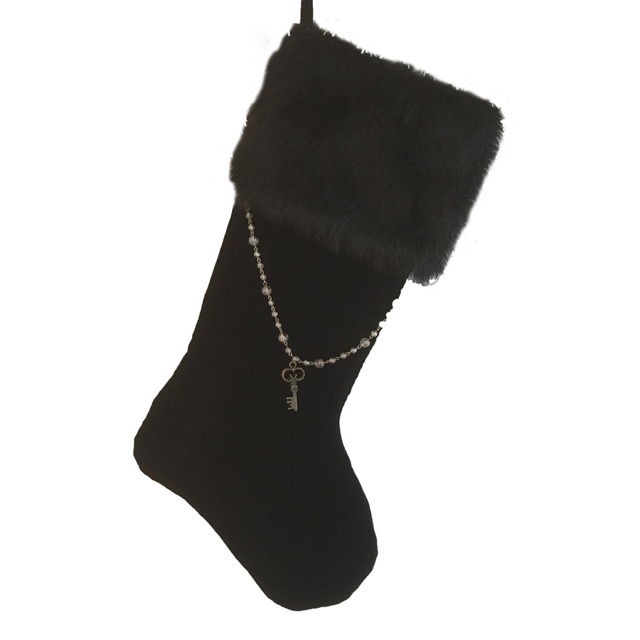 "Black ""Curiosity"" Key Stocking, WCI-Winward Canada, Putti Fine Furnishings"