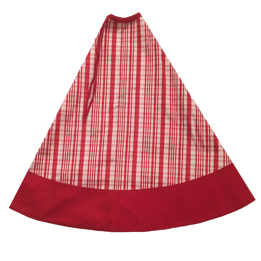 Red & White Plaid Christmas Tree Skirt, FDI-Floridus Design Images, Putti Fine Furnishings
