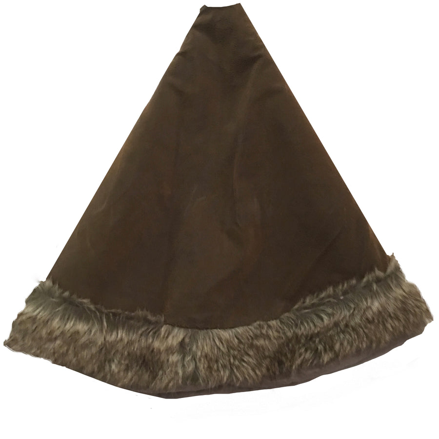 Faux Suede and Fur Border Christmas Tree Skirt, TPC-The Pine Center, Putti Fine Furnishings