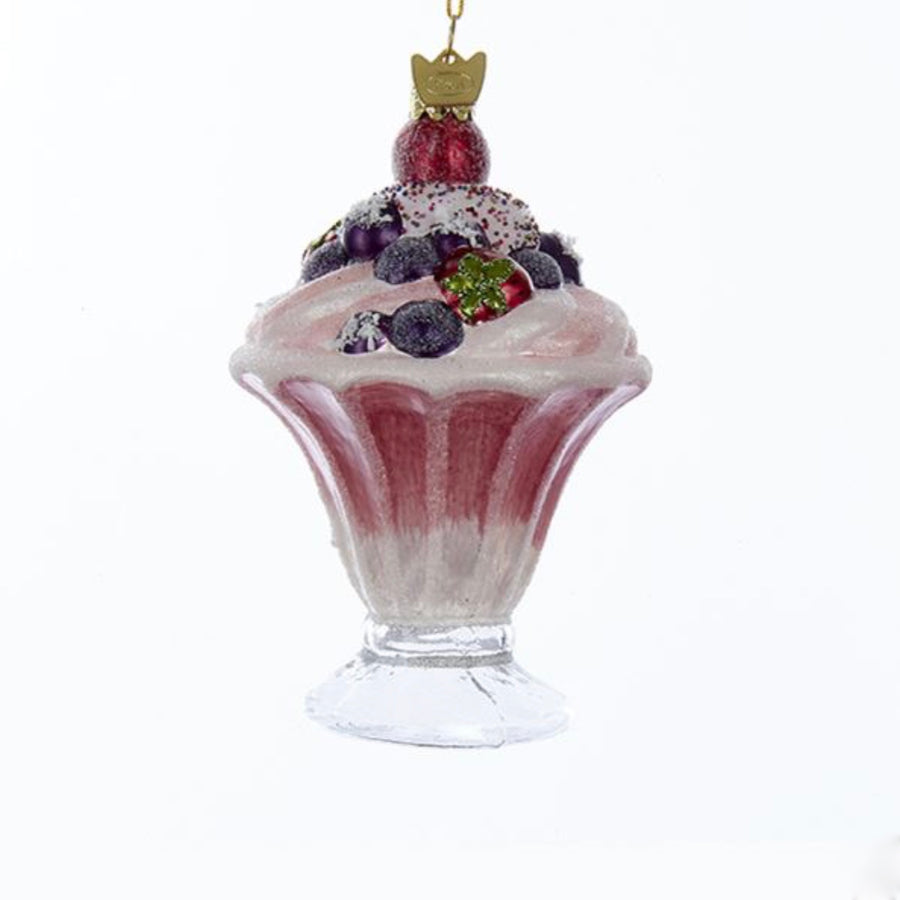 Kurt Adler Ice Cream Sundae Glass Ornament