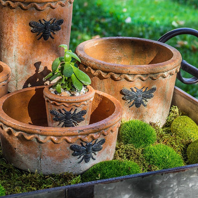 Moss Planter with Bee - Small, AC-Abbott Collection, Putti Fine Furnishings