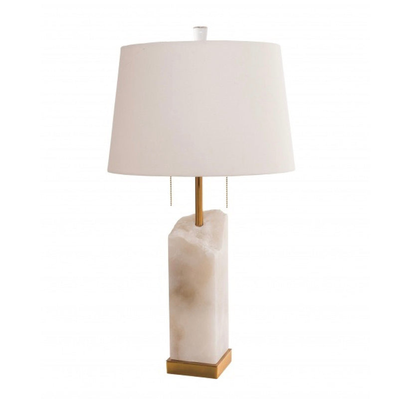White Cracked Marble Table Lamp, BI-Bethel International, Putti Fine Furnishings