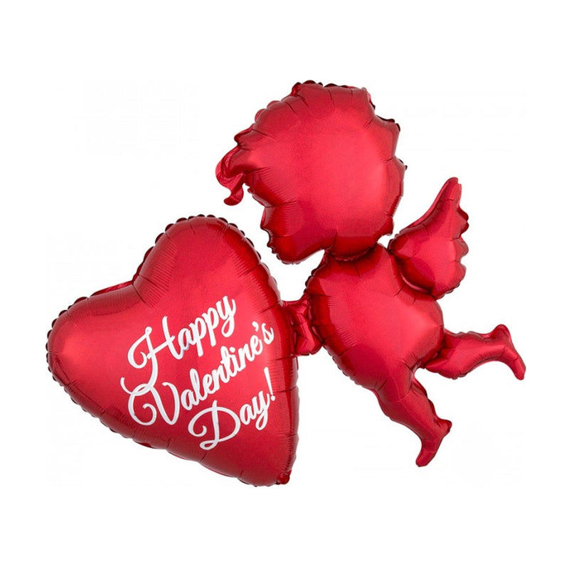 Holographic Red Cupid Balloon, SE-Surprize Enterprize, Putti Fine Furnishings