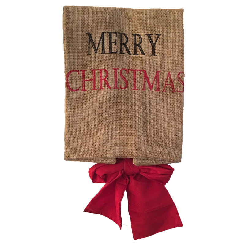 """Merry Christmas"" Burlap Gift Sack - Large"