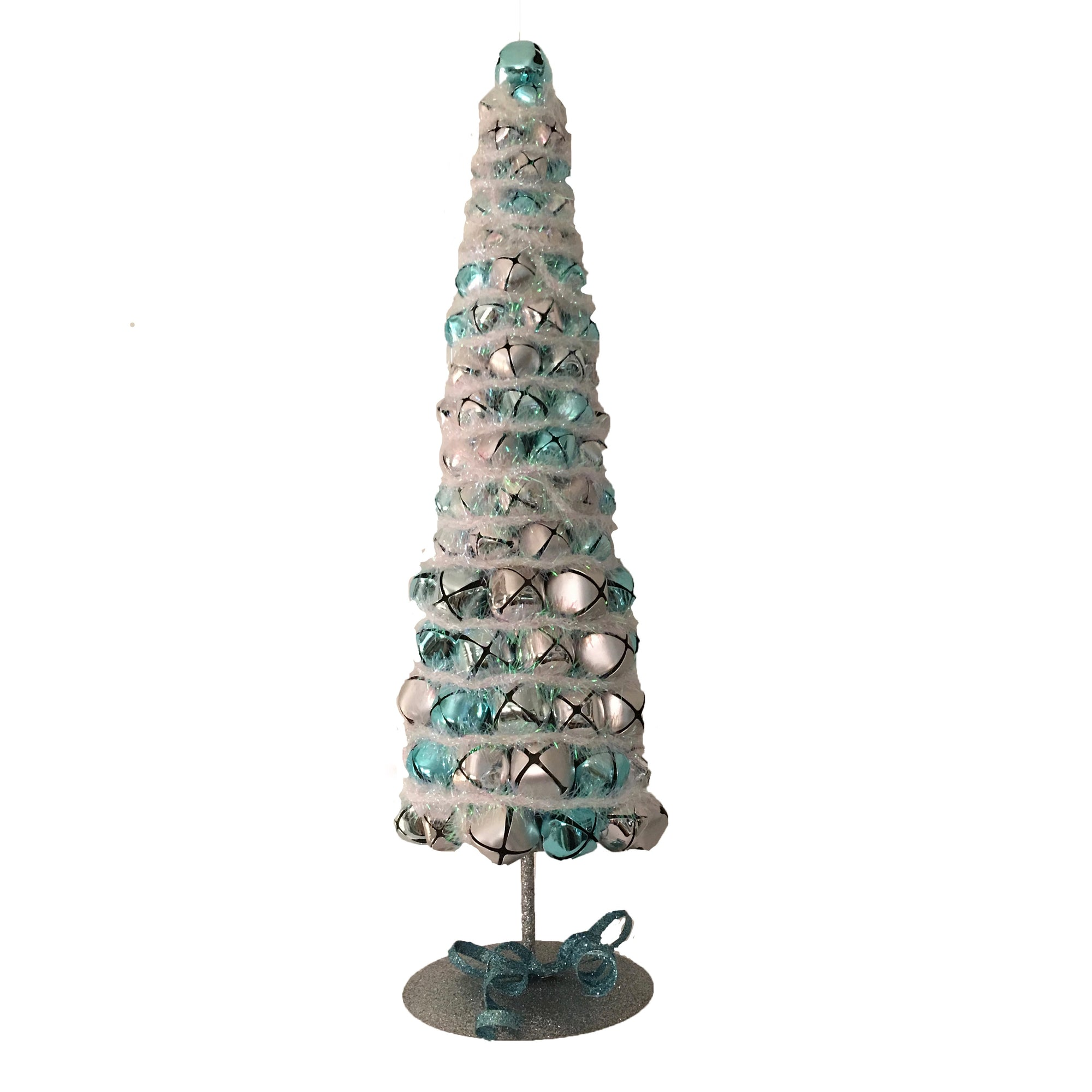 Topiary with Aqua and Silver Bells, CT-Christmas Tradition, Putti Fine Furnishings