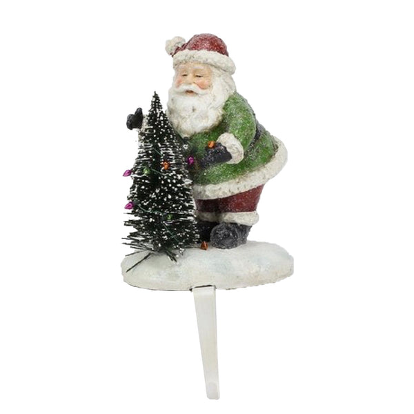 Santa with Tree Stocking Holder