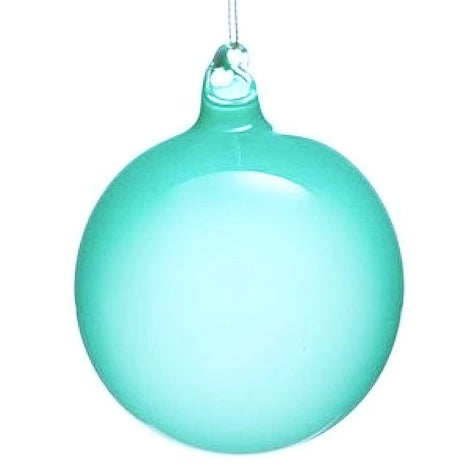 "Jim Marvin ""Bubble Gum"" Glass Ornaments 120mm - Turquoise"