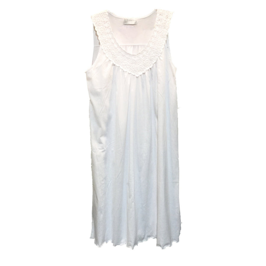 "Victoriana ""Jodie"" Jersey Cotton Sleeveless Nightdress"