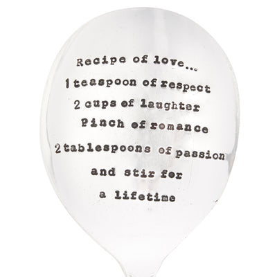 """Recipe of Love "" Vintage Serving Spoon, LDD-La De Da Living, Putti Fine Furnishings"