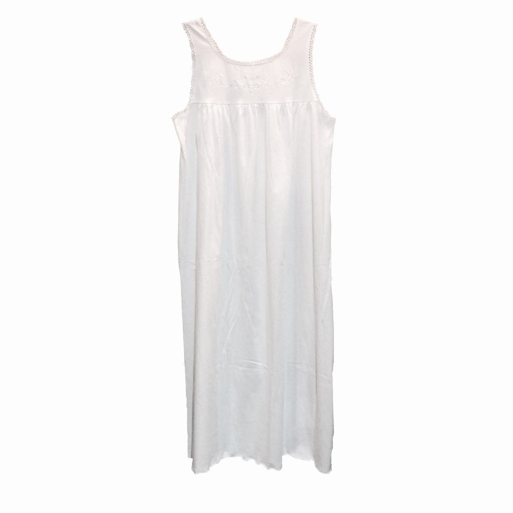 "Victoriana ""Elsa"" Cotton Jersey Sleeveles Nightgown, VI-Victoriana Imports, Putti Fine Furnishings"