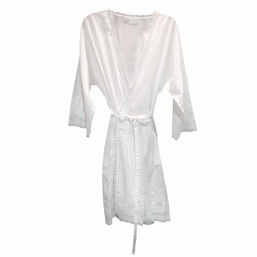"Victoriana ""Linda"" Embroidered Coverup"