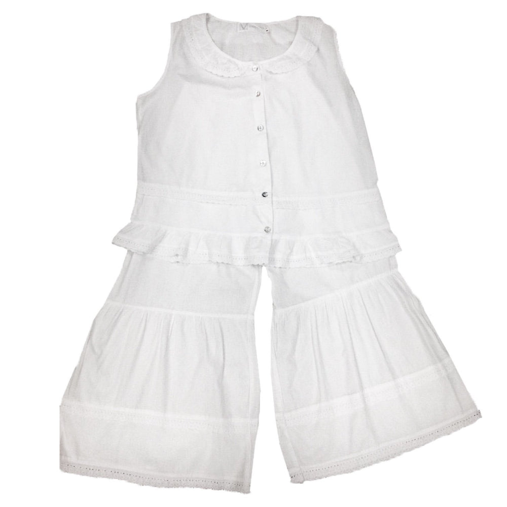 "Victoriana ""Renee"" Ruffled Pant PJ Set, VI-Victoriana Imports, Putti Fine Furnishings"