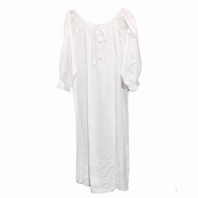 Victoriana Dotted Swiss Long Sleeve Nightgown, VI-Victoriana Imports, Putti Fine Furnishings