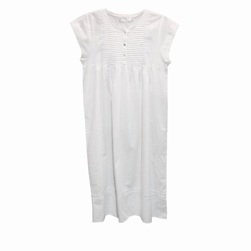 "Victoriana ""Alice"" Tuxedo Pleated Nightgown, VI-Victoriana Imports, Putti Fine Furnishings"