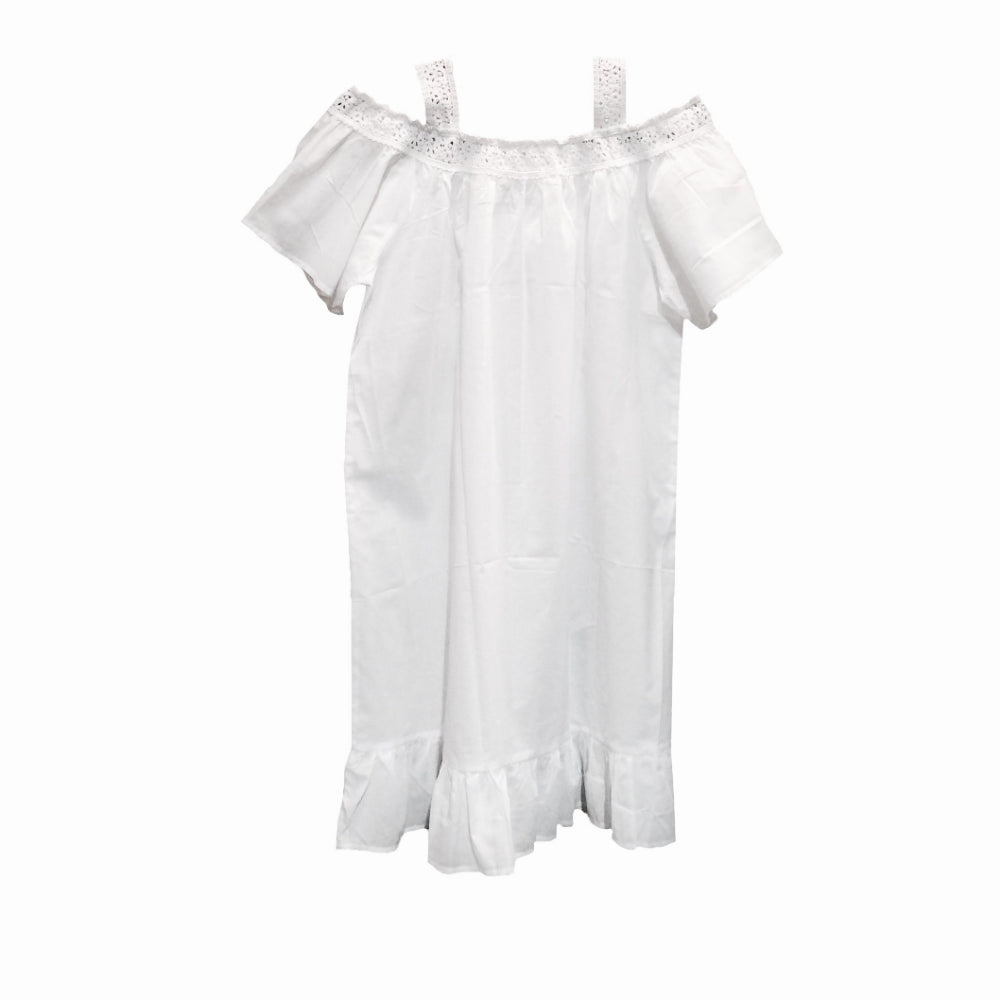 "Victoriana ""Marcella"" Open Shoulder Nightdress"