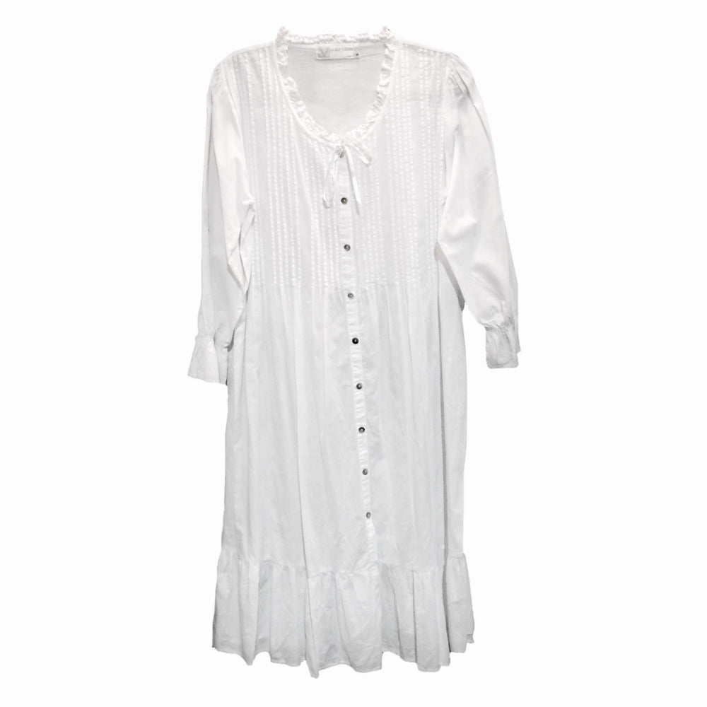 "Victoriana ""Lilian"" Embroidered White Nightdress"