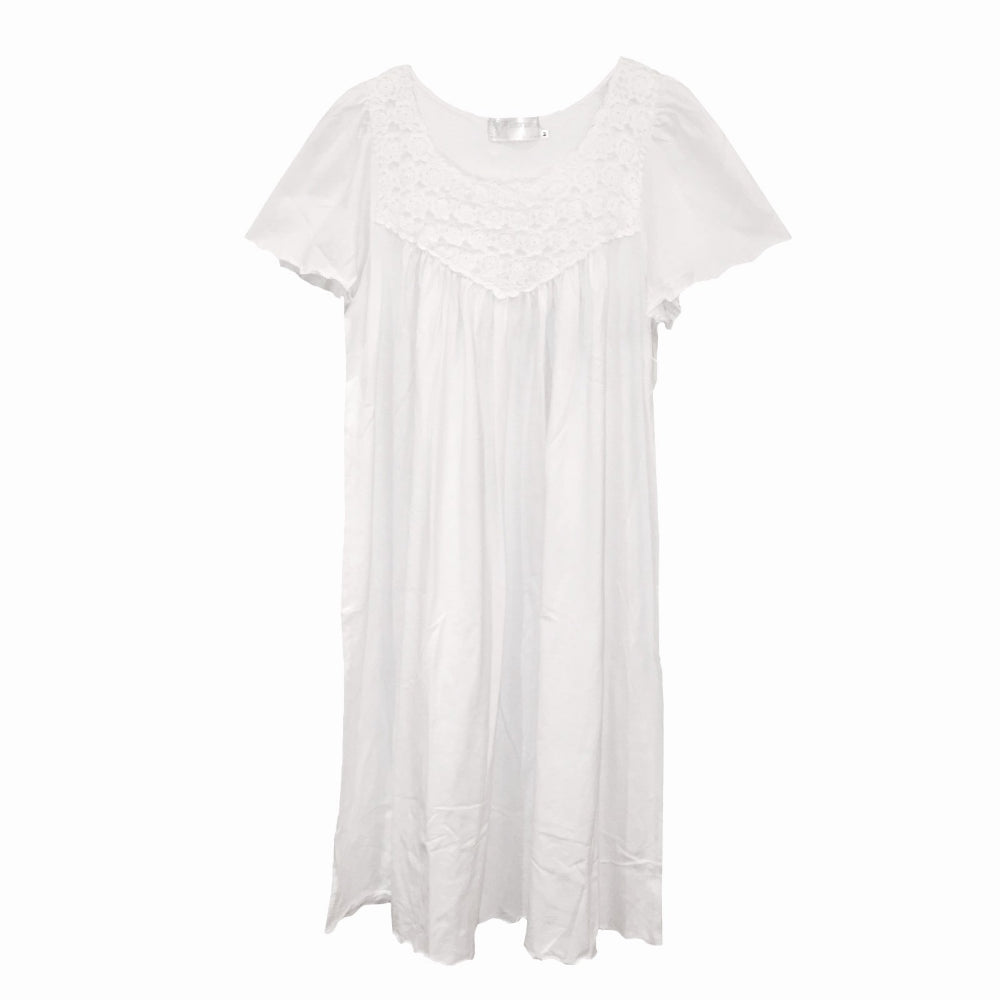 "Victoriana ""Rosa"" Cotton Jersey Nightgown"