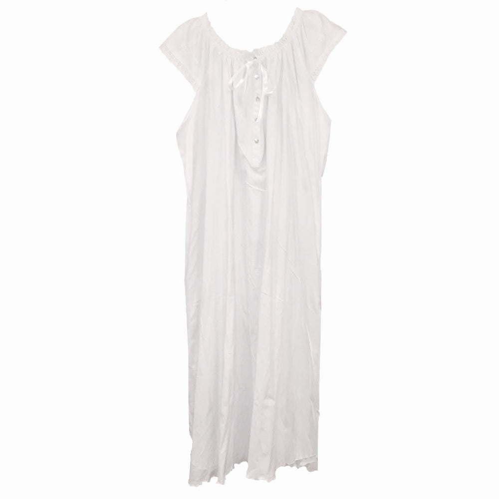 "Victoriana ""Julia"" Cotton Jersey Knit Nightgown"