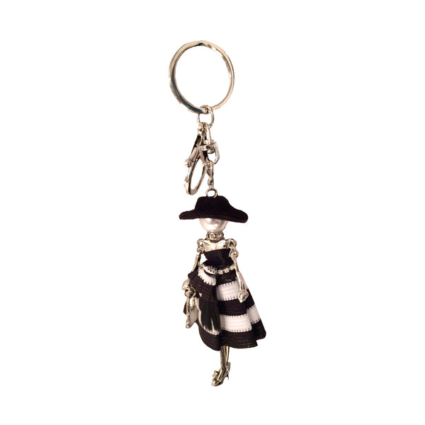 Jacqueline Kent Black & White Diva Keychain, JK-Jacqueline Kent, Putti Fine Furnishings