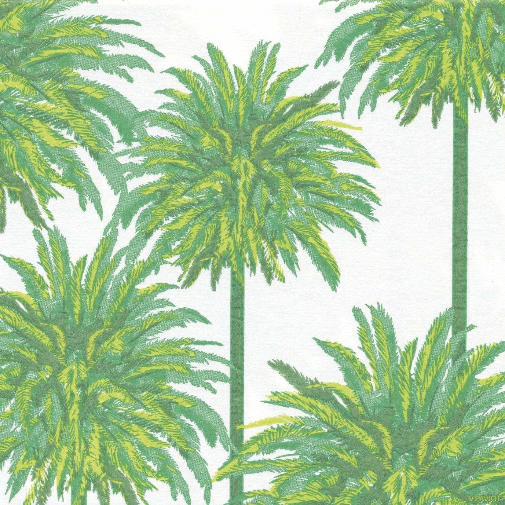Francoise Paviot Palm Tree Dinner Napkin, FP-Francoise Paviot, Putti Fine Furnishings