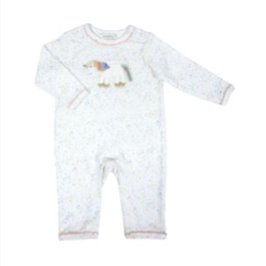 Albetta Rainbow Crochet Unicon Geo Print Babygrow, AUK-Albetta UK, Putti Fine Furnishings