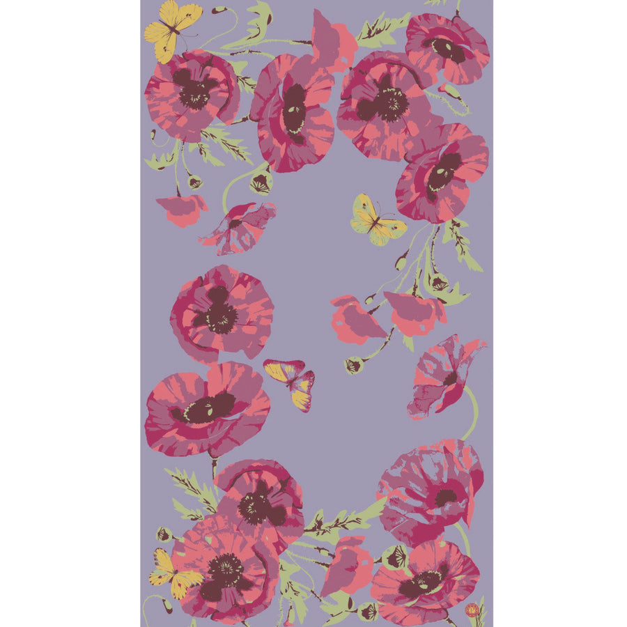 "Powder ""Poppy"" Print Scarf - Lilac"
