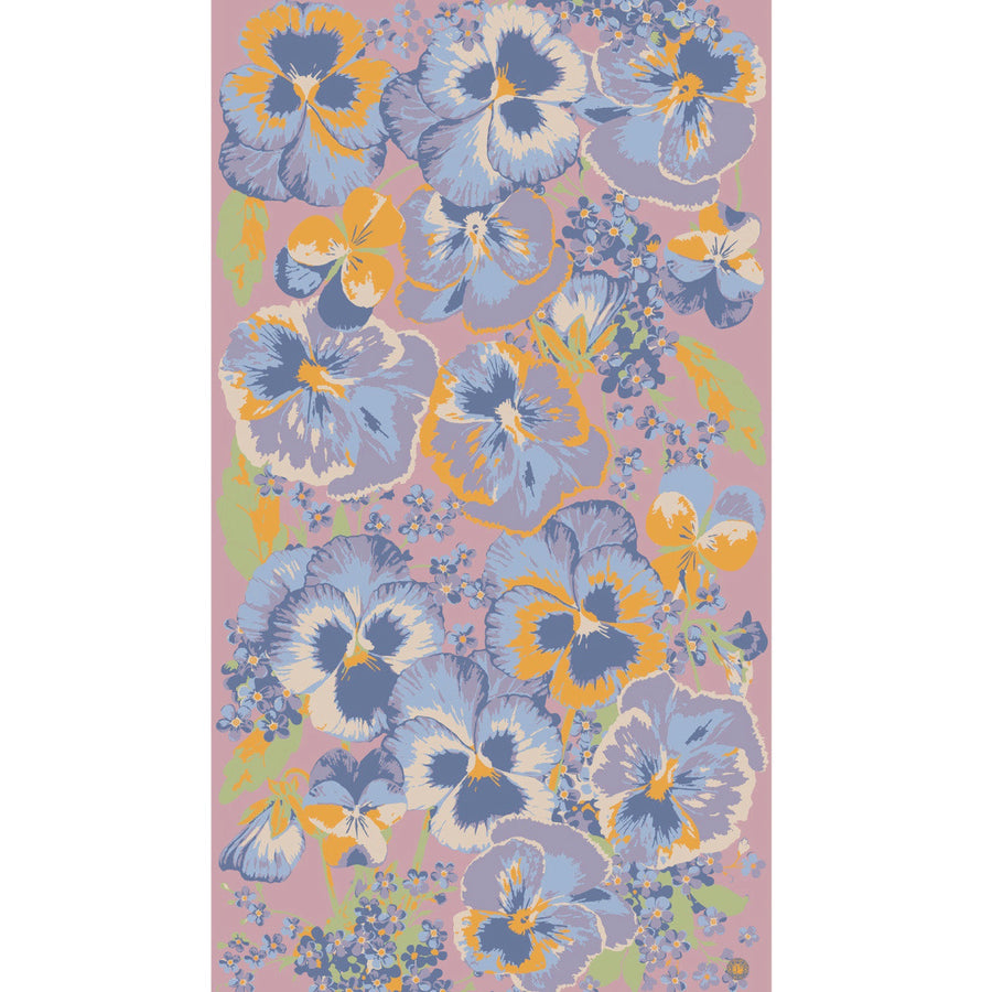 "Powder ""Pansy"" Print Scarf - Pink, PDL-Powder Design Limited, Putti Fine Furnishings"