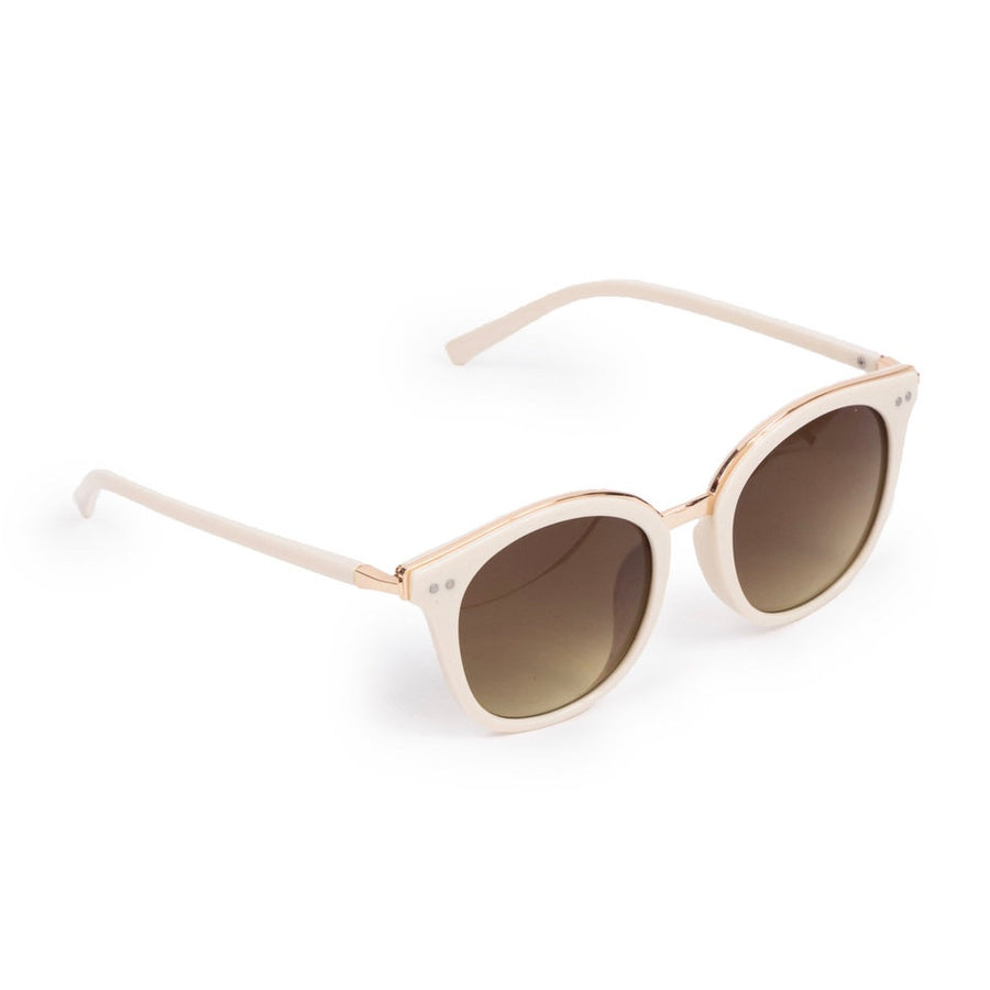 "Powder ""Adele"" Sunglasses - Cream and Gold"