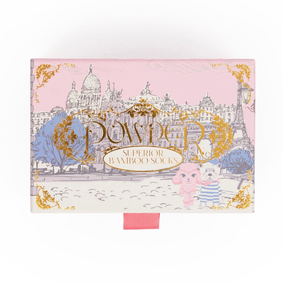 "Powder ""Paris Scene"" Ladies Socks Giftbox"