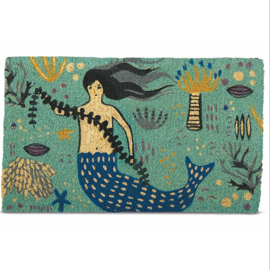 """Mermaid"" Coir Doormat"