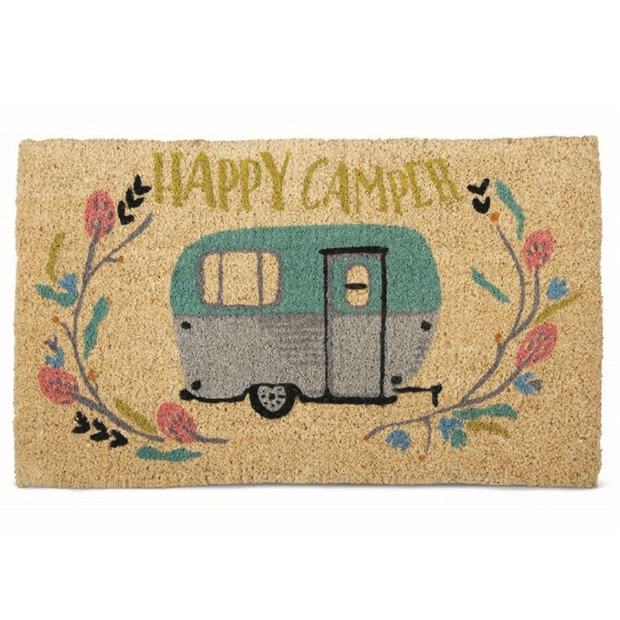 """Happy Camper"" Coir Doormat"