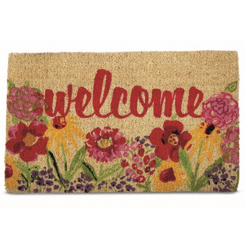 """Fresh Flowers"" Welcome Coir Doormat, TAG-Design Home Associates, Putti Fine Furnishings"