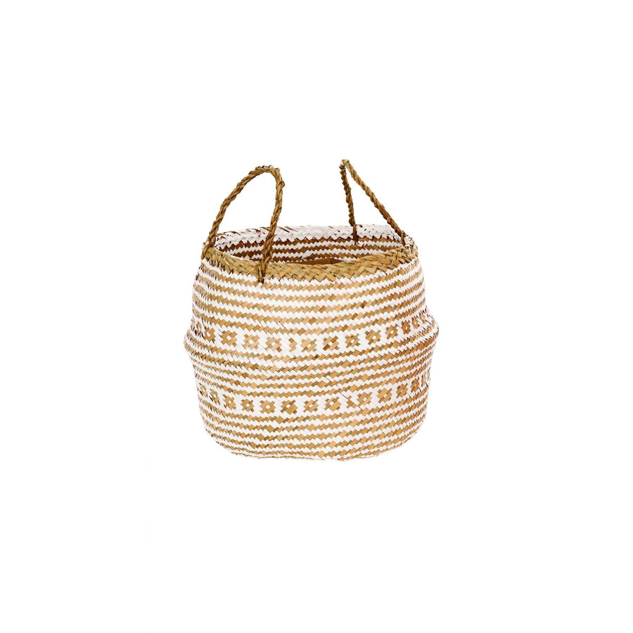 "White ""Laysan"" Belly Baskets, IT-Indaba Trading, Putti Fine Furnishings"