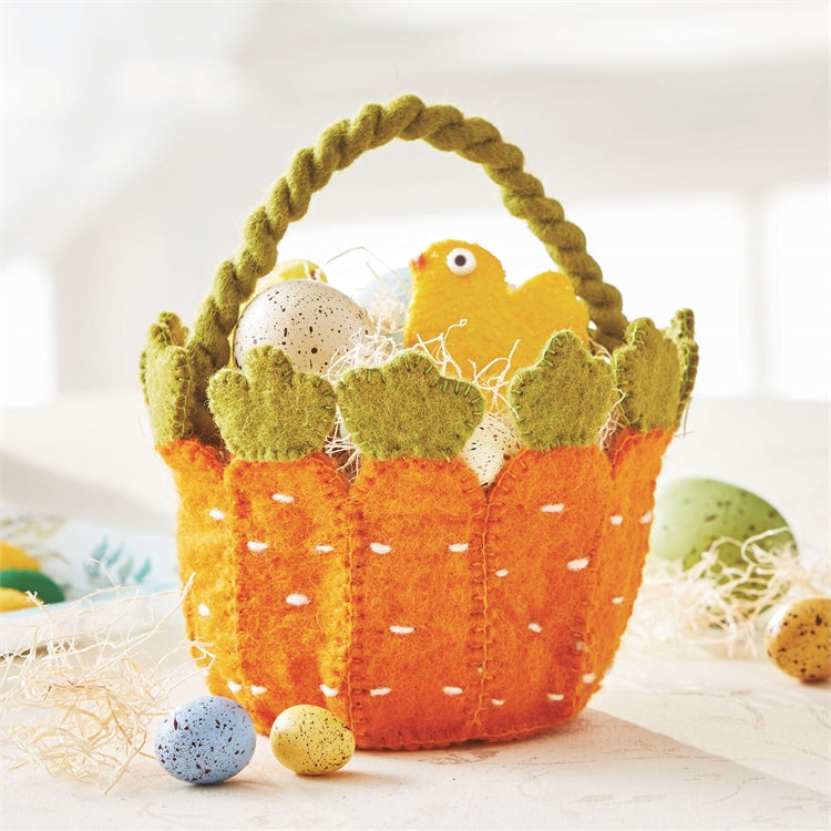 Felt Carrot Basket