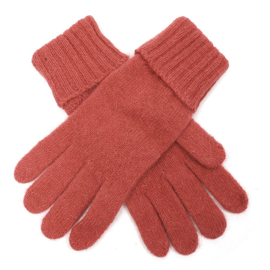Plain Knit Gloves - Coral Pink | Putti Fine Fashions Canada