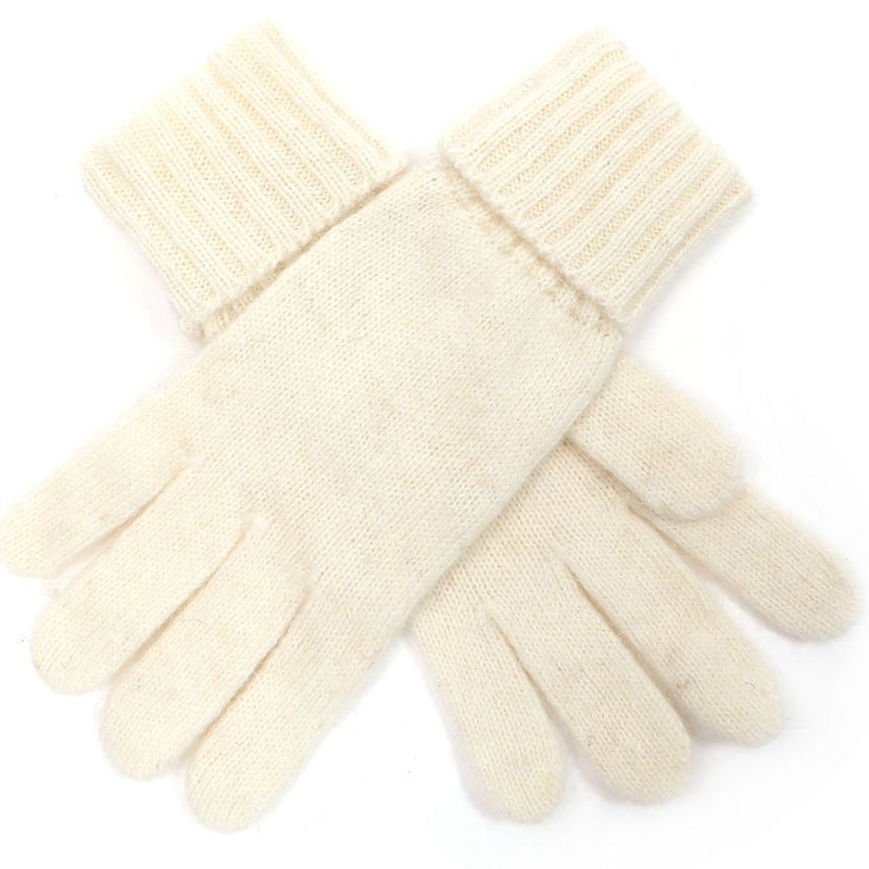 Plain Knit Gloves - Ivory | Putti Fine Fashions Canada