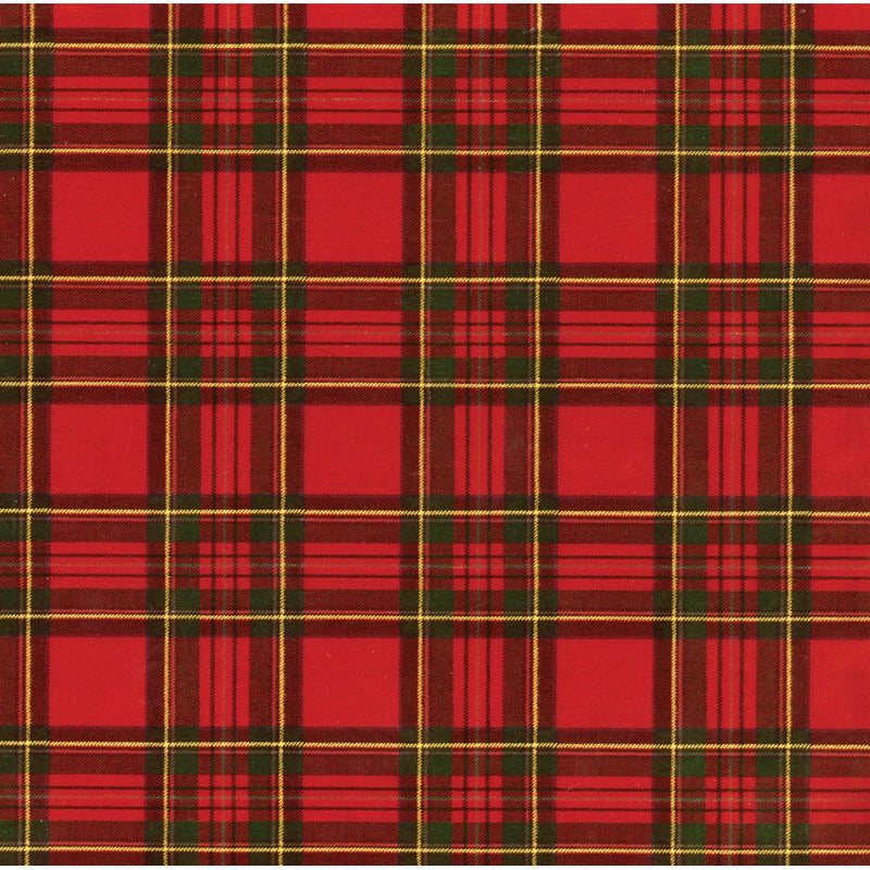 Royal Plaid Wrapping Paper Roll | Putti Christmas Canada
