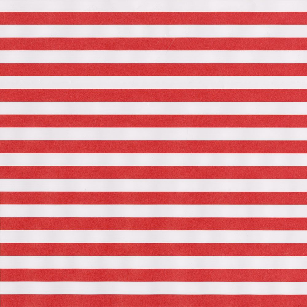 Red & White Club Stripe Christmas Wrapping Paper Roll