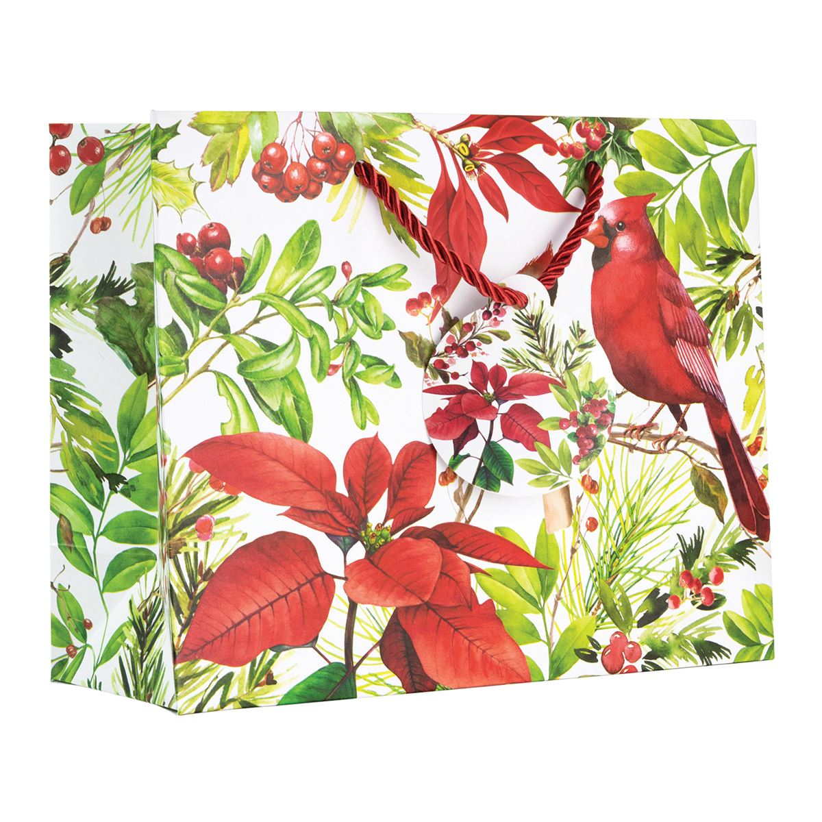 Michel Design Works Poinsettia Medium Gift Bag | Putti Christmas