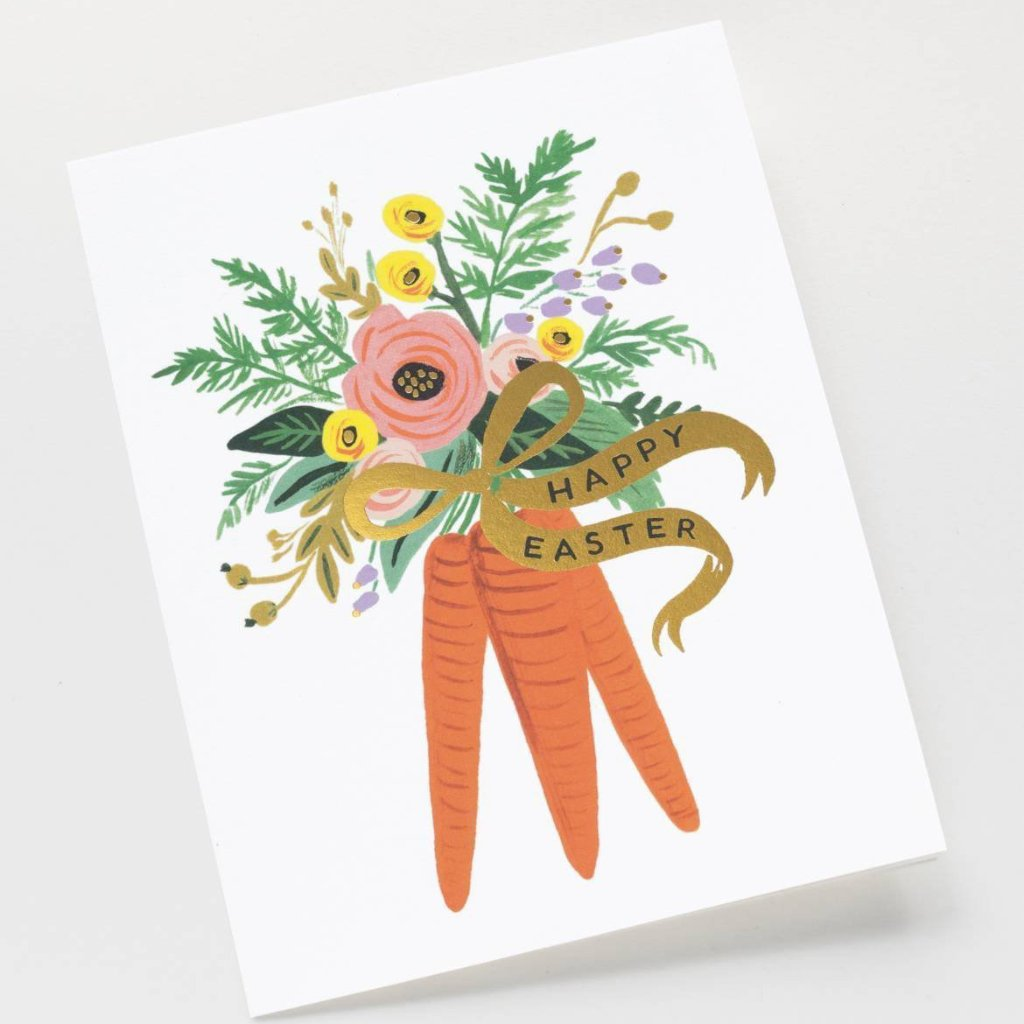 Rifle Paper Co. Carrot Bouquet Easter Card, RPC-Rifle Paper Co., Putti Fine Furnishings